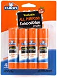 Elmer's Washable All-Purpose School Glue Stick, 0.24 oz, Pack of 4 (E542)