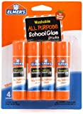 Elmer s Washable All-Purpose School Glue Stick, .24 oz, 4 Pack (E542)