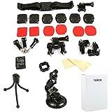 TARION® Montage-Zubehör Montagewerkzeug Halterungen-Set (15in1) für Gopro Hero Kamera 3,3+