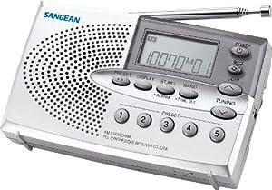 Sangean DT-220A AM/FM Stereo Pocket Size Radio with Self-Storage Headphones