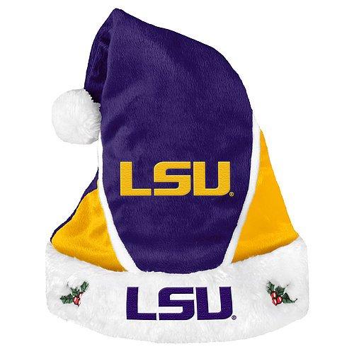 LSU Tigers Santa Hat - Colorblock 2014 - Licensed NCAA College Gift
