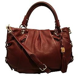 Vince Camuto Cristina Garnet Leather Shoulder Bag