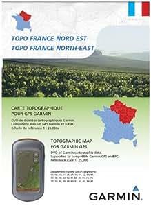 Garmin  Topo France Nord Est Carte Topographique DVD avec carte micro SD / SD préchargée