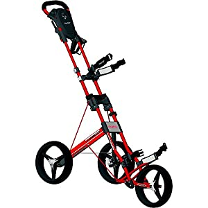 Bag Boy Automatic 3 Wheel Push Cart (Red)
