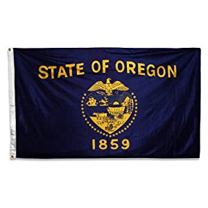 US Flag Store Double-Sided Polyester Oregon Flag, 3 by 5-Feet