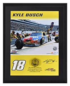 Buy 2011 Kyle Busch Lug Nut Plaque Limited Edition of 518 - Memories - Mounted Memories Certified - NASCAR Race Used... by Sports Memorabilia