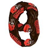 NFL Cleveland Browns Sheer Infinity Scarf, One Size, Brown