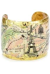 """ÉVOCATEUR """"On Trend"""" Vintage Paris Cuff Bracelet"""