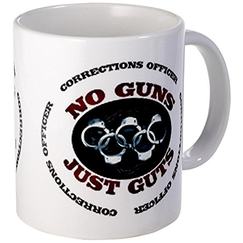 Cafepress No Guns Just Guts Mugs - S White
