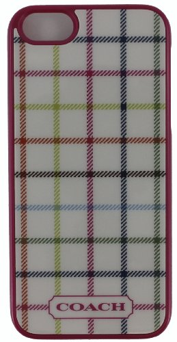 Best Price Coach Tattersall Iphone 5 Case, Style 64399, Pink Plaid