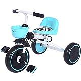 三輪車 三輪ベビーカー 折りたたみ三輪車 組立なし 幼児/子供用 対象2-5歳 軽量(4KG)青