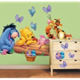 Disney Winnie the Pooh Giant Sticker Room Makeover Kit (3 Sheets Size 45cm x 137cm - total GIANT stickers 29)