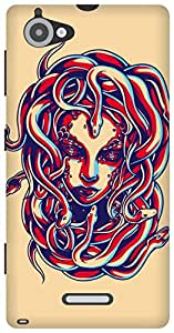 The Racoon Lean Medusa hard plastic printed back case/cover for Sony Xperia L