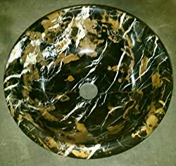 "14"" Round Michael Angelo Marble Bathroom Sink Vessel Above Counter or Undermount Installation Two Weeks Super Sale"