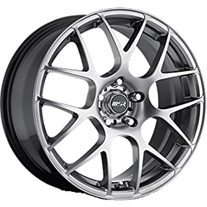 MSR 95 18 Hyperblack Wheel / Rim 5×4.5 with a 42mm Offset and a 72.64 Hub Bore. Partnumber 9579812