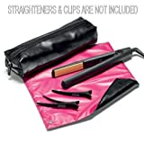 Heat Protection Heat Resistant Travel Pouch and Mat for straighteners and tongs images