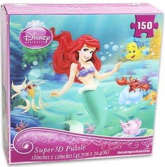 Disney Little Mermaid Ariel Super 3d Puzzle 150 Pieces - 1