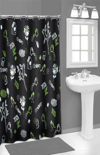 Chalk Board shower curtain (Chalkboard Shower Curtain compare prices)