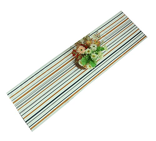 Modern Table Runner Color Block Strip Table Cover 70''