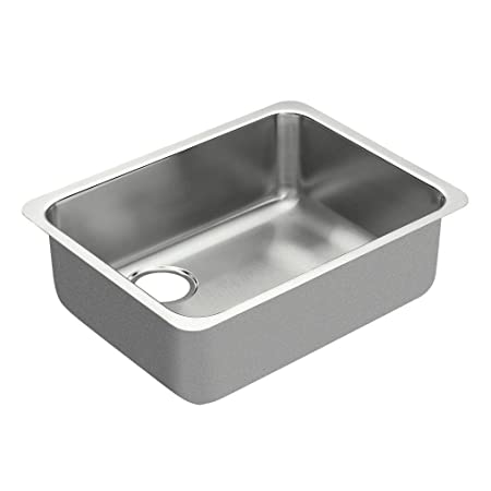 Moen G18195L 1800 Series Steel 18-Gauge Single Bowl Sink, Stainless