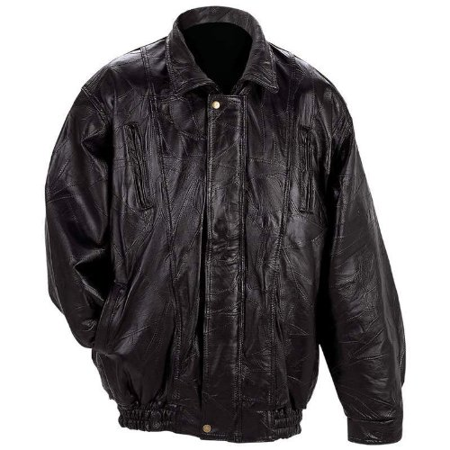 Maxam Italian Mosaic Design Genuine Top Grain Lambskin Leather Jacket (MED) (Italian Motorcycle Jackets compare prices)