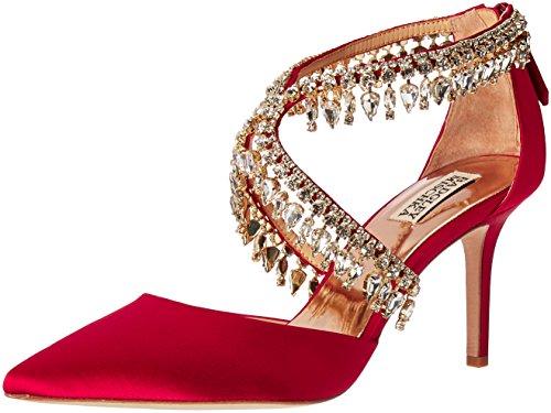 Badgley Mischka Women's Glamour Dress Pump, Ruby Red, 8 M US