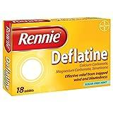 6 x Rennie Deflatine 18 Tablets