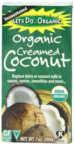 Lets Do Organic Creamed Coconut, 7-Ounce Boxes (Pack of 6)
