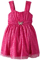 Amy Byer Girls 2-6X Party Dress, Pink, 5