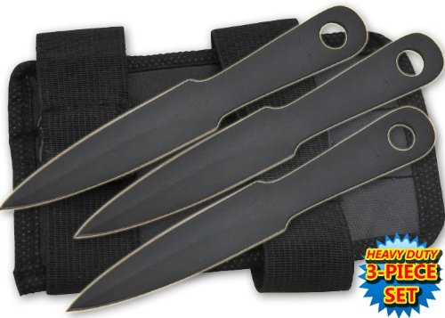 """Tk-185-3-Bk 3 Pc 4.5"""" Mini Yqlni Throwing Gy1Ar7C Knives W/ Wrist Carrying Case Folding Knife Edge Sharp Steel Ytkbio Tikos567 Bgf Set Acgzkr5A Your Sights On The Target With These Compact And Super-Sharp Mini Throwing Knives. Each Knife Is 4.5 Inches Lon"""