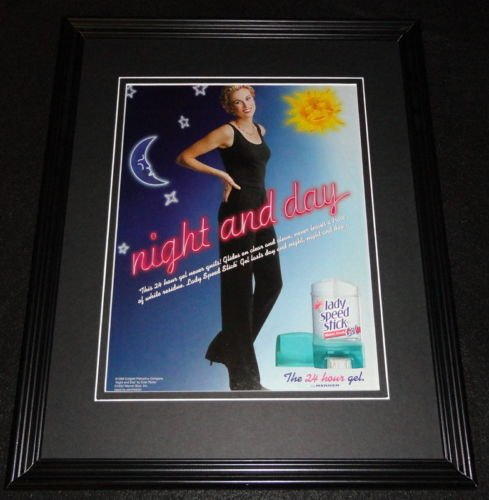 lady-speed-stick-1998-framed-11x14-original-vintage-advertisement