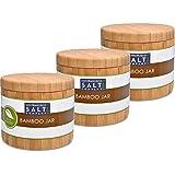 Bamboo Jar (Small 6oz salt jar - 3 pack)