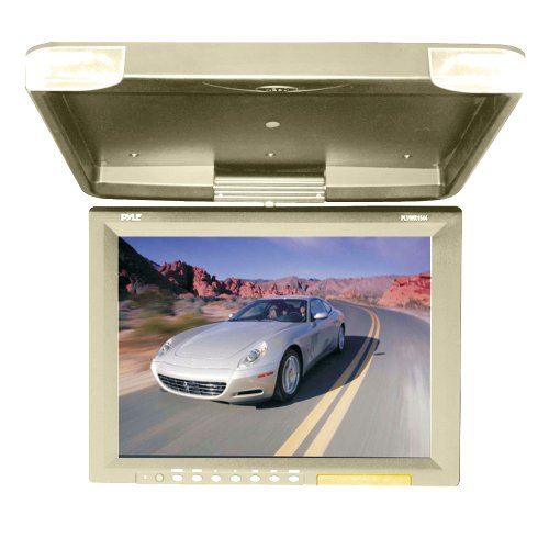 Pyle 15.1-Inch Hi-Res Flip Down Roof Mount Lcd Monitor And Ir Transmitter