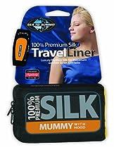 """Sea to Summit 100% Premium Silk Liner (Standard Rectangular 73"""" x 36"""") - Navy Blue"""
