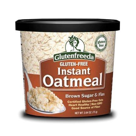 Glutenfreeda Brown Sugar & Flax Instant Oatmeal Cups 2.64 Oz (12 Pack) by Glutenfreeda