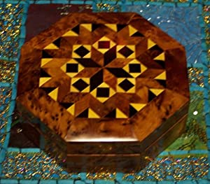 Maria Wood Thuya Jewerly Box Hand made By treasures Of Morocco