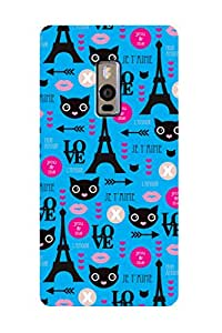 ZAPCASE PRINTED BACK COVER FOR ONE PLUS TWO - Multicolor