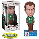 Funko Big Bang Theory Wacky Wobbler Bobble Head Sheldon Green Lantern Shirt