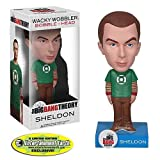 Funko Big Bang Theory Wacky Wobbler Wackelkopf Sheldon Green Lantern Shirt