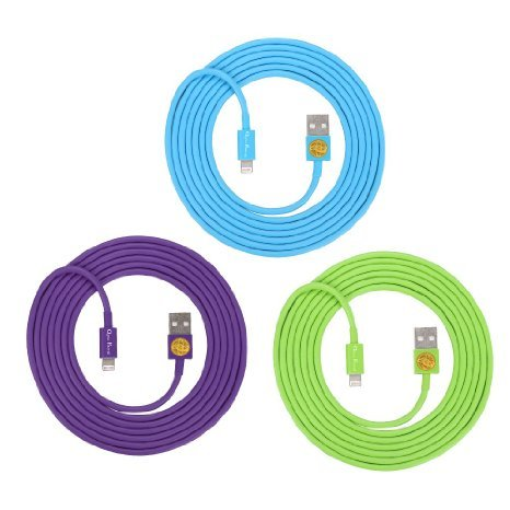 Lightning 8 Pin to USB Cable Data Sync Charger Cord for iPhone 5 5S 5C , iPhone 6 6 Plus (Purple,Blue,Green) (Iphone 5 Charger Colored compare prices)