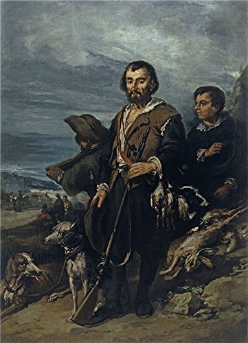 Oil Painting 'Lucas Velazquez Eugenio El Cazador Segundo Tercio Del 19 Century ' Printing On Perfect Effect Canvas , 10 X 14 Inch / 25 X 35 Cm ,the Best Living Room Gallery Art And Home Artwork And Gifts Is This Reproductions Art Decorative Prints On Canvas