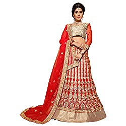 Manvaa Red Colour Net Lehenga Choli With Dupptta