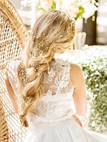 Bridalvenus Wedding Bridal Headband for for Women and Girls - Bridal Hair Piece, Weddings Wreath (2 Pieces)