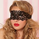 Qihu's Sexy Black Lace Mask Lady Girl Women Mask Concert Halloween Birthday Party Xmas Christmas Disguise Scary Costume Role-playing Game Acting Fancy Dress Dance Ball Prom Dress High Quality Gif