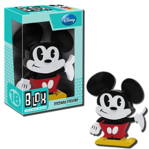 BLOX Disney Mickey Mouse Vinyl Toy Figure - 2012 SDCC Blue Exclusive by Funko Toys - 1