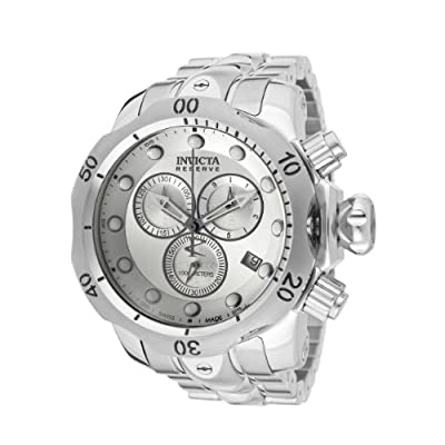 Invicta Men's 5730 Venom Reserve Chronograph Silver Dial Stainless Steel Watch by Invicta