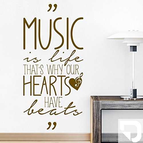 DESIGNSCAPE-Wandtattoo-Music-is-life-thats-why-our-hearts-have-beats