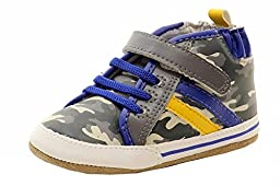 Robeez Outback Dave Mini Shoe (Infant), Grey, 9-12 Months M US Infant