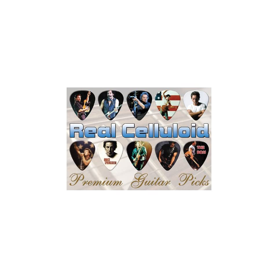 Bruce Springsteen Premium Guitar Picks X 10 (TR) Musical
