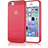 delightable24 Schutzhülle TPU Silikon Apple iPhone 5 / 5S Smartphone - Rot Transparent